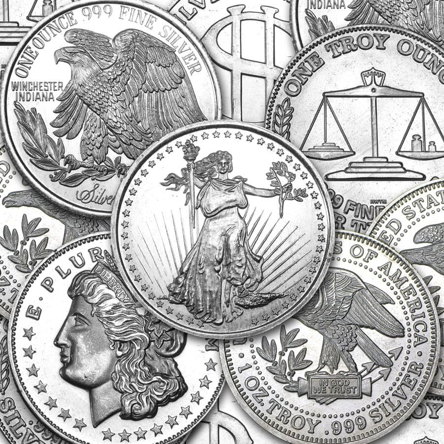 1 oz Silver Rounds - Secondary Market